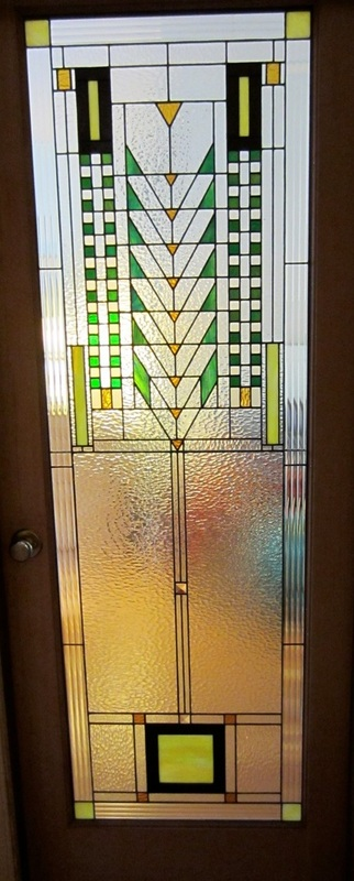 frank lloyd wright style door panel